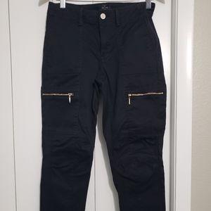 White House Black Market slim black cargo pants